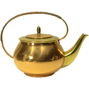 Vintage German Brass & Copper Teapot