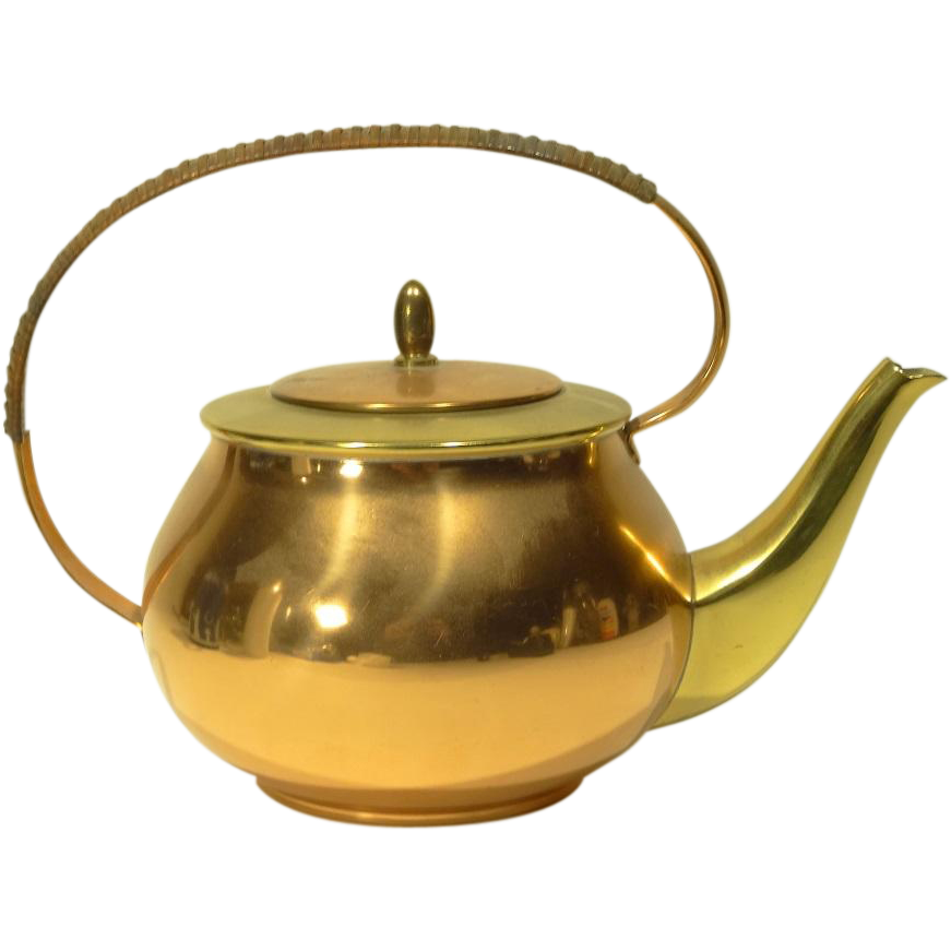 Vintage Copper Teapot 114