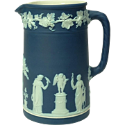 c1924 Wedgwood Dark Blue Jasperware Pitcher