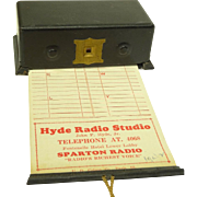 Unusual 1930s Figural Antique Radio & Station Log