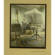 Wallace Nutting Interior Photo with Antiques & Great Color