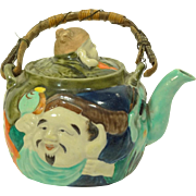 1930s Japanese Banko Ware Teapot with Faces