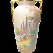 "Pickard Scenic Vellum ""Classic Ruins"" Vase - Franz Vobornik artist"
