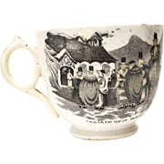 Sabbath Day in Wales Mid 19th Century Staffordshire Teacup