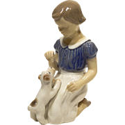 Vintage Bing & Grondahl Figure Girl With Puppy #2316