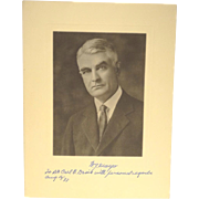 1933 Autographed Photo of W.J. Mayo Founder of the Mayo Clinic