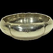 Large Kalo Hammered Sterling Silver Arts & Crafts Bowl