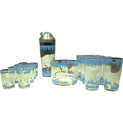 1940s Polar Bear Bar Set 18 pieces