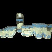 1940s Polar Bear Bar Set 18 pieces