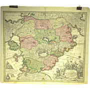 18th Century Utopia Map by Johann Batist Homann