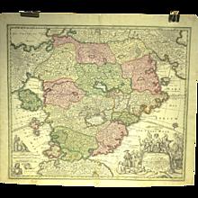 18th Century Utopia Map by Johann Batist Homann