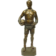 1920s Sculpture of a Soccer Player