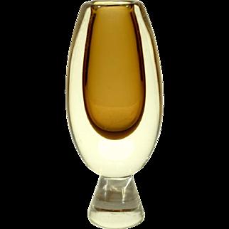 Mid Century Kosta Sommerso Vase by Vicke Lindstrand