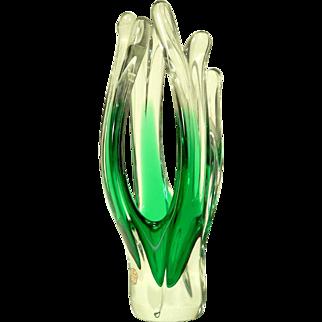 SEA Glasbruk Kosta Sweden Unusual Sculptural Vase
