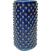 Gunnar Nylund for Rorstrand Sweden Triangular Blue Spike Vase