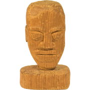 Vintage Folk Art Carving of African American