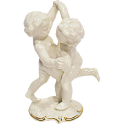 Vintage Dancing Cherubs (Putti)  Hutschenreuther Porcelain by Karl Tutter