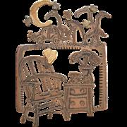 Vintage Pat Garrett Mixed Metals Art Pin
