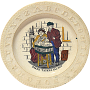 "Rare Staffordshire ABC  Plate ""Baked Taters All Hot"""