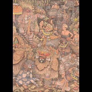 Fine Vintage Ubud Balinese Painting