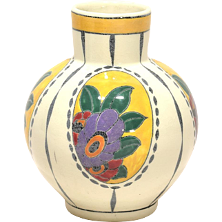 Charles Catteau Boch Freres Art Deco Pottery Vase