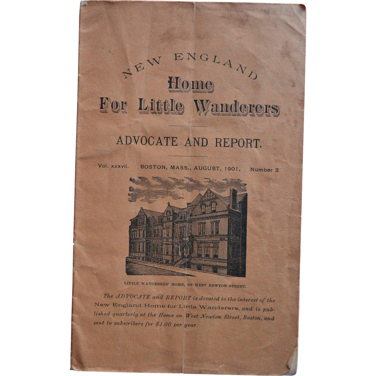 1901 New England Home for Little Wanderers, Boston, Mass ...