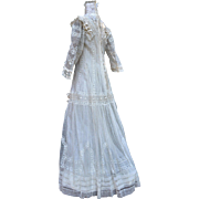 Exquisite Victorian All Lace Wedding Dress with Silk Bows