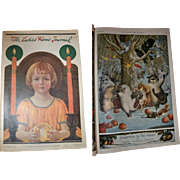 1919 December Ladies Home Journal, Complete, Many Full Page Color Christmas Themed Ads, Santa, Children, Dolls, Toys