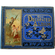 c1880 The Decorated Album by Marcus Ward, Die Cuts, Albumen Prints, Calligraphy