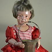 "Vintage Wire Mesh Flower Basket 6"" Tall"