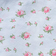 Pink Roses on Cream, Vintage Flannel, Large Piece, Salvage