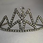 Vintage Rhinestone Tiara or Crown for Large Doll
