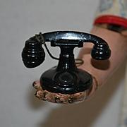 Vintage Tootsietoy 1930's Cast Metal Telephone