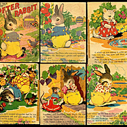 1942 Tale of Peter Rabbit, Illustrated by Ethel Hays, Large Saafield Linen-Type Book Salvage/AS IS