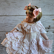 Antique Pink Lenci Dress, Layers of Dainty Ruffles