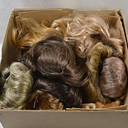 8 Synthetic Wigs, Small to Large Sizes