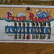 c.1920's Original Card Peter Rabbit Safety Pins