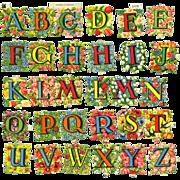 Vintage Alphabet Flowers Die Cuts Complete