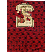 """Rare Early Turkey Red & Black 24"""" Wide Cotton, 1 Yard Cuts from Original Bolt, Multiple Yardage Available"""