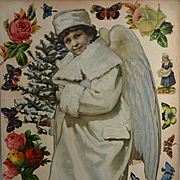 Victorian Scrapbook Page, Large 13.50 in. Snow Angel, Die Cuts