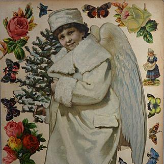 Victorian Scrapbook Page, Large 13.50 in. Snow Angel, Die Cuts