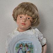 Little Girls Do Dolls Laundry, Cat Plays, Victorian Child Teaset Plate