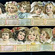 1896 Die Cut Calendar Sections, Maud Humphrey Children