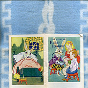 1945 Story of Bunny Esmond Book and Blue Bunny Blanket