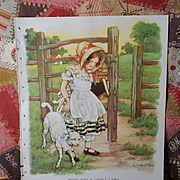 "1939 C.M. Burd ""Mary Had a Little Lamb"" Large Book Print"