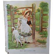 "1939 C.M. Burd ""Mary Had a Little Lamb"" Large Book Print"