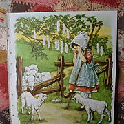 "1939 C.M. Burd ""Little Bo-Peep"" Darling Print from Children's Book"