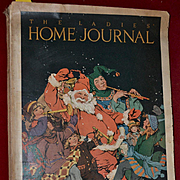 1920 Christmas Issue Ladies Home Journal, Santa, Children, Maxfield Parrish, Color Advertising, Complete
