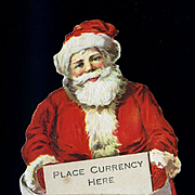 1920s Die Cut Santa Figure