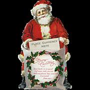1920s Die Cut Santa Figure